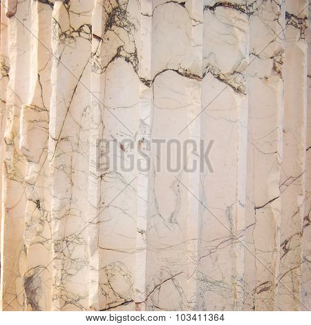 Black and Grey Striated Streaks In Marble.
