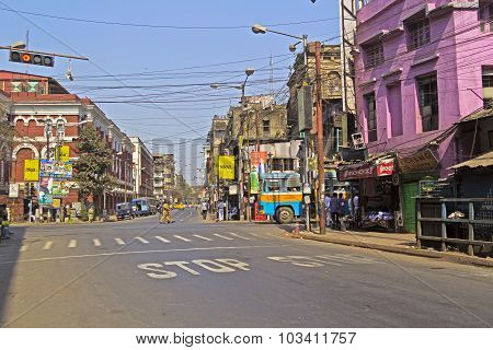 Crossroad in Calcutta