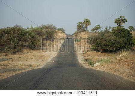 Asia Myanmar Myingyan Road Landscape