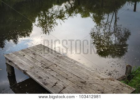 Close Up Of Wooden Jetty