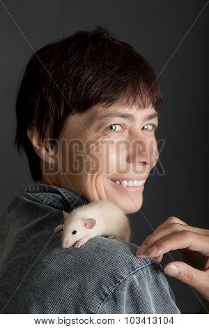 Portrait With Pet