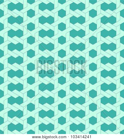 Geometric Seamless Pattern Background With Line And Weave Style.