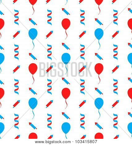 Seamless Texture for Independence Day of America
