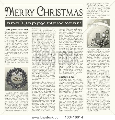 Christmas Newspaper