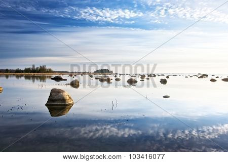 Sky reflection in the sea