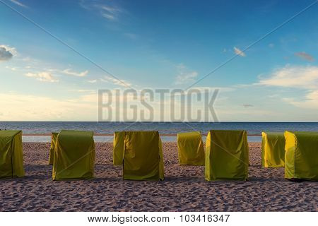 Cabs For Relaxing On The Beach Under Tents