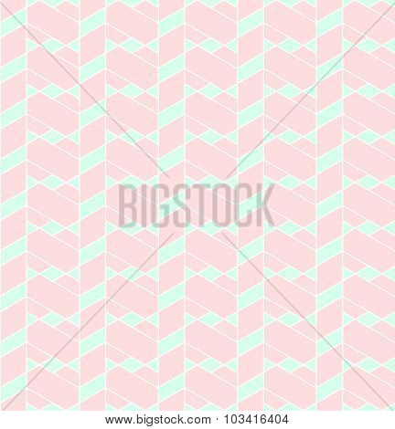 Geometric Seamless Pattern Background With Line, Rhombus, Trapezoid And Triangle.