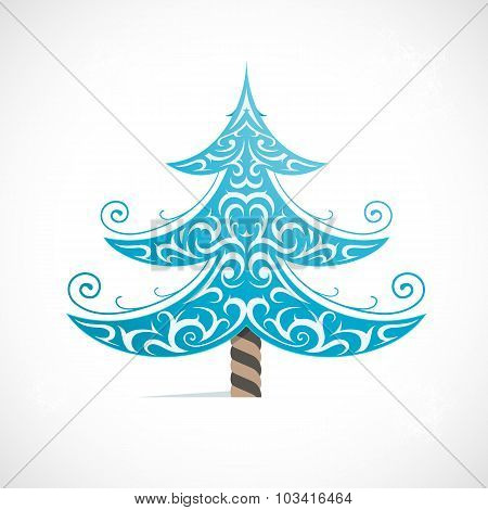 Christmas tree as symbol for winter Holidays