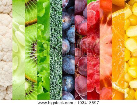 Fresh Color Food Background