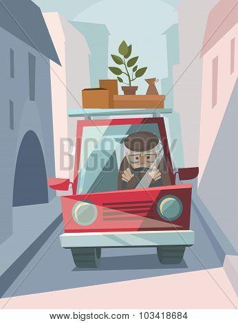 Old Man Drive A Car