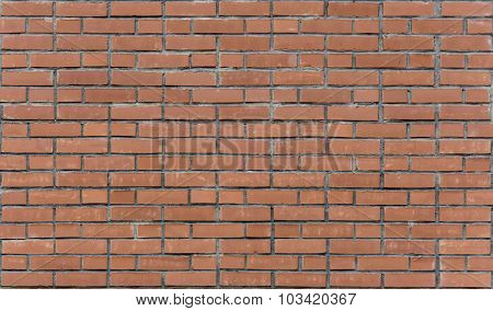 Red Brick Wall. Red Brick Walls. Uniform Brickwork.