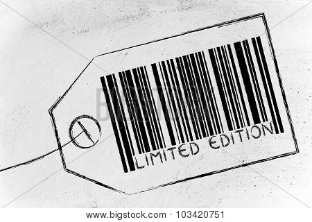 Limited Edition Code Bar On Product Price Tag