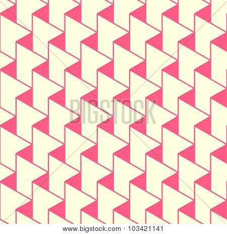 Geometric Seamless Pattern Background With Zigzag Line And Triangle.