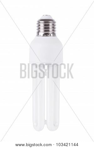 Energy Efficient Light Bulb Isolated On White