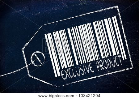 Exclusive Product Code Bar On Product Price Tag