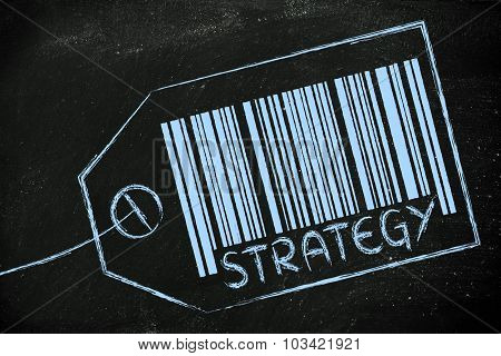 Sales Strategy Code Bar On Product Price Tag