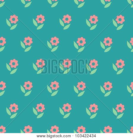 Ornate Simple Beauty Flower Seamless Pattern. Abstract Floral Original Background.