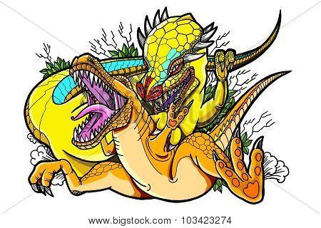 Painting Dinosaur