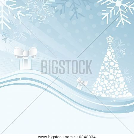 An Abstract Christmas Background Illustration