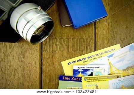 Myanmar Travel Destination Background.