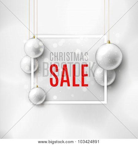 Christmas Sale Vector Banner With Christmas Toys