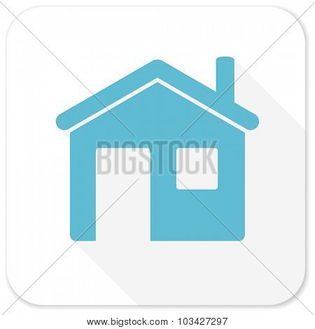 house blue flat icon