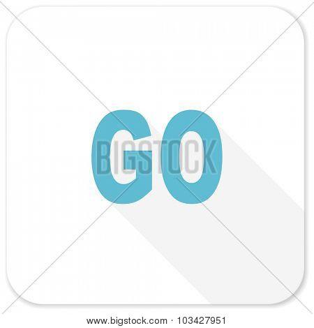 go blue flat icon