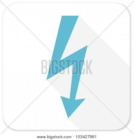 bolt blue flat icon