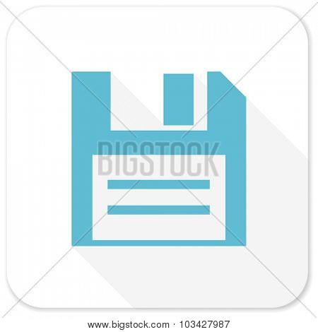 disk blue flat icon