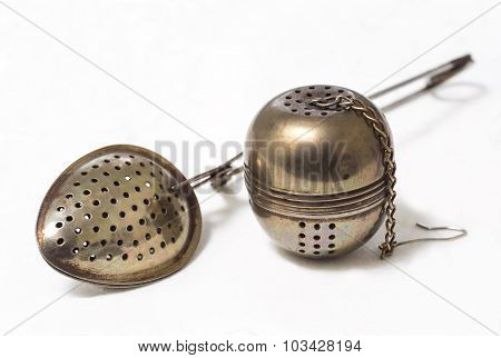 Spoon, Strainer For Brewing Tea