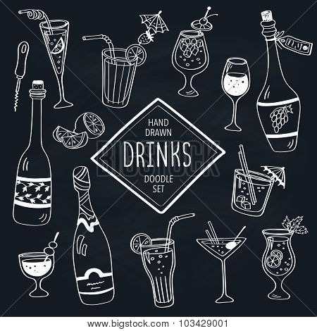 Drinks doodle collection