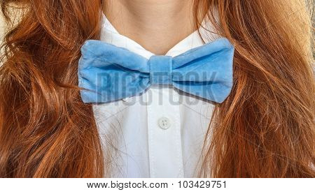 Model With Bow-tie Blue 1
