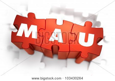 Word - MAU on Red Puzzles.