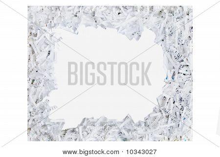 Frame Made Of Shredded Paper