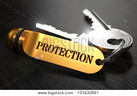 Keys with Word Protection on Golden Label.