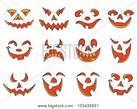 Halloween Pumpkin Smiles And Grimaces