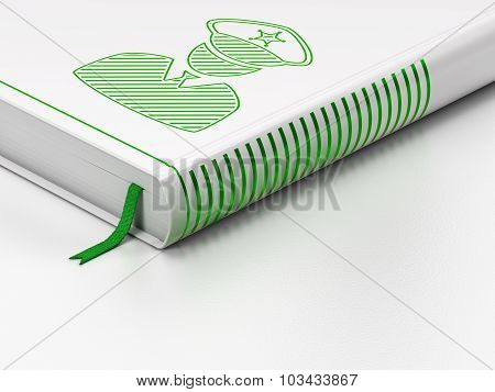 Law concept: closed book, Police on white background