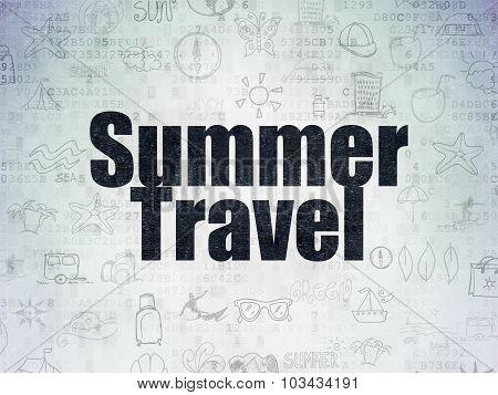 Travel concept: Summer Travel on Digital Paper background