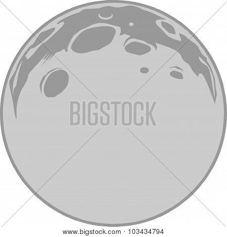 Full Moon Vector Format