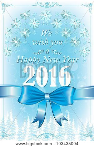 Happy New Year 2016 greeting card, also for print.
