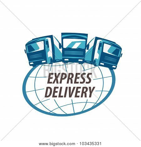 delivery vector logo design template. traffic or truck icon