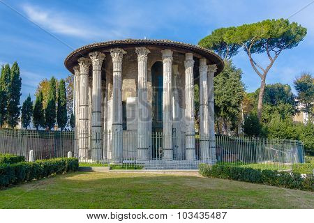 Temple Of Hercules Victor. Rome