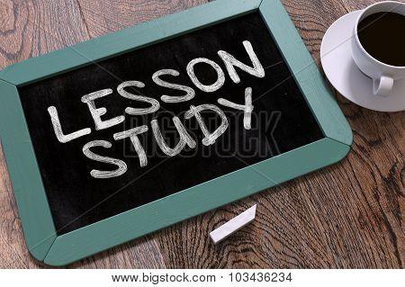 Lesson Study Handwritten on Chalkboard.