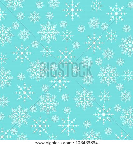 Christmas blue wallpaper, snowflakes texture