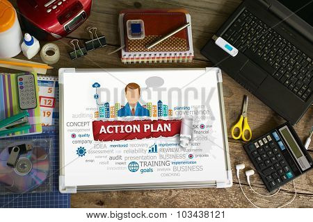 Action Plan Design Illustration Concepts For Business, Consulting, Finance