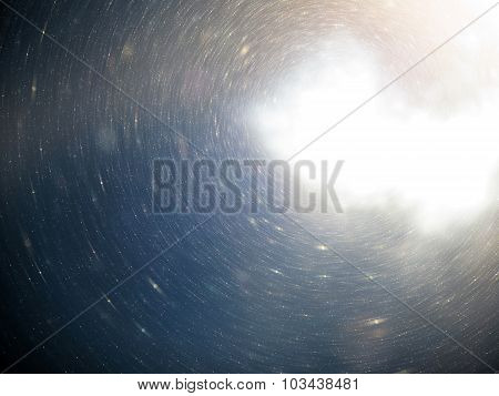 Abstract Space, Cosmos, Universe Background With Floating Dust