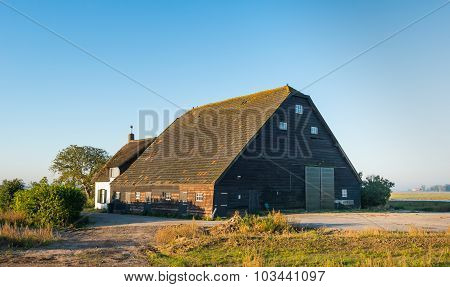Old Dutch Farmhouse With Barn