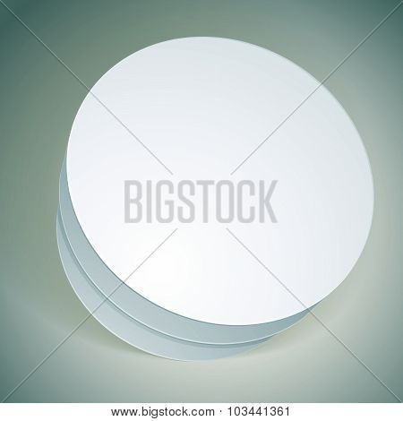 Vector blank round box, template for your package design, put your image over the pack