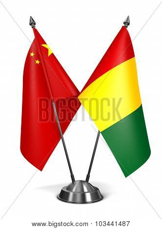 China and Guinea - Miniature Flags.