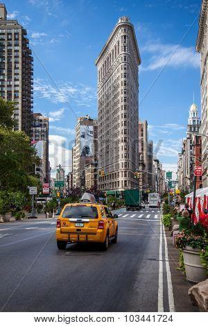 NEW YORK CITY, USA - SEPTEMBER, 2014: Flatiron Building in New York City